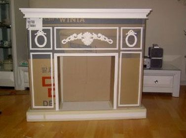 Interesting ideas for decor: Fireplaces made of cardboard. ФАЛЬШ КАМИН КАРТОНА.