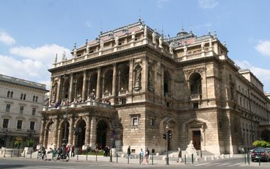The Opera House on Andrássy Avenue, an elegant thoroughfare in Budapest's district VI.