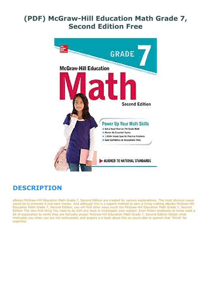 Pdf mcgrawhill education math grade 7 second edition