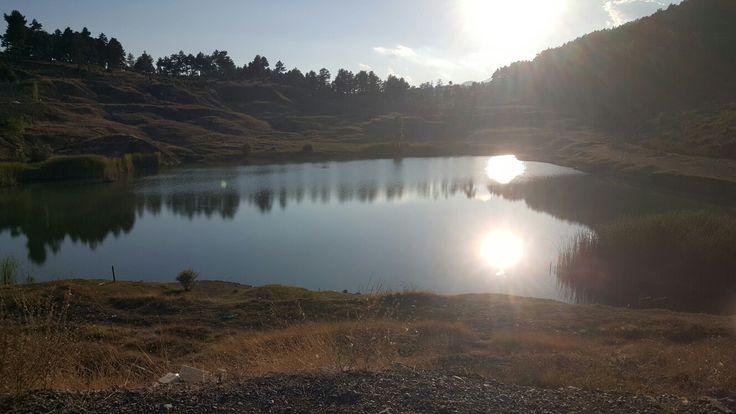 Çamlıyayla maden krater gölü