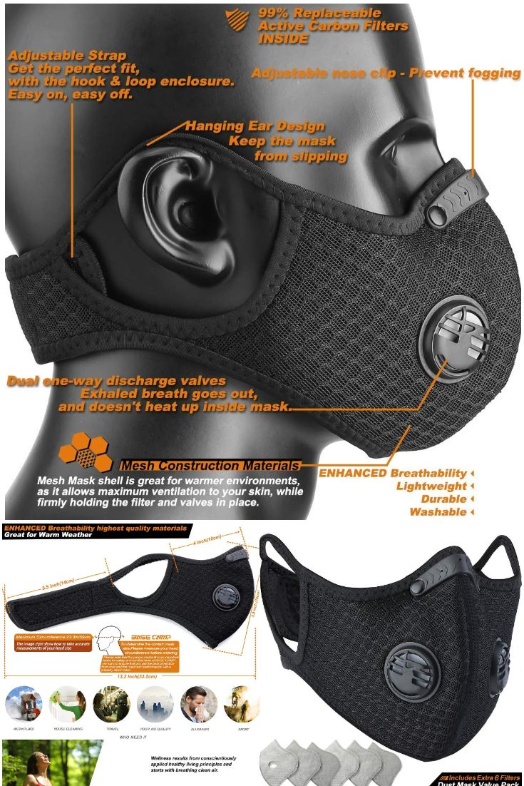New Best Seller Dust Breathing Air Pollution Face Mask