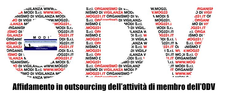 Ecco il nostro logo creato dallo staff grafico sull'affidamento in outsourcing dell'attività di membro dell'Organismo di Vigilanza