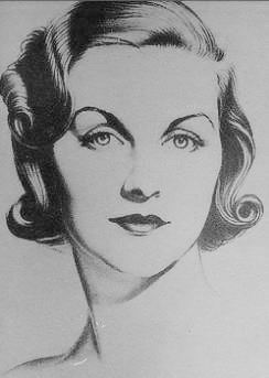 Diana Mitford, drawing, 1930s William Acton
