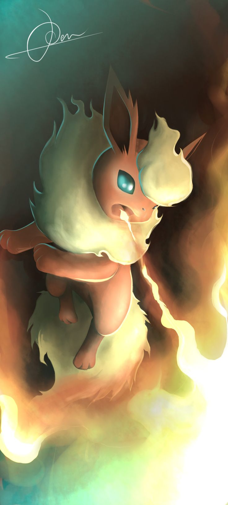 Burn it all down! The flame has arrived! by VulcanusKnight.deviantart.com on @deviantART (Flareon)