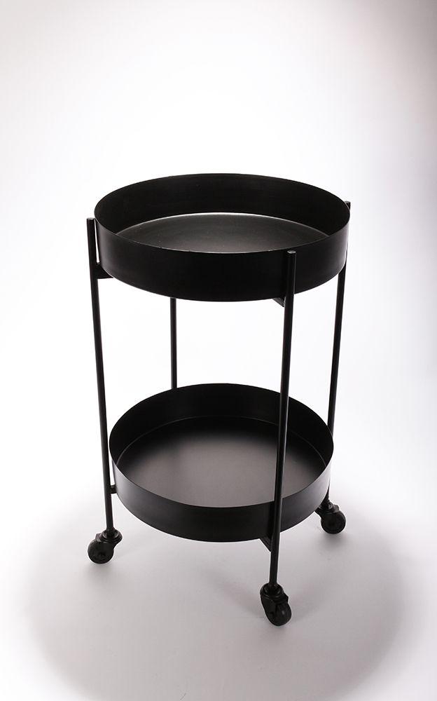 Barek Czarny Metalowy Dwie Polki Na Kolkach 68cm 7413653787 Oficjalne Archiwum Allegro Coffee Table Home Furniture