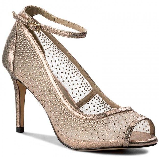 Pantofi cu toc subțire MENBUR - 07751 Silver 0009