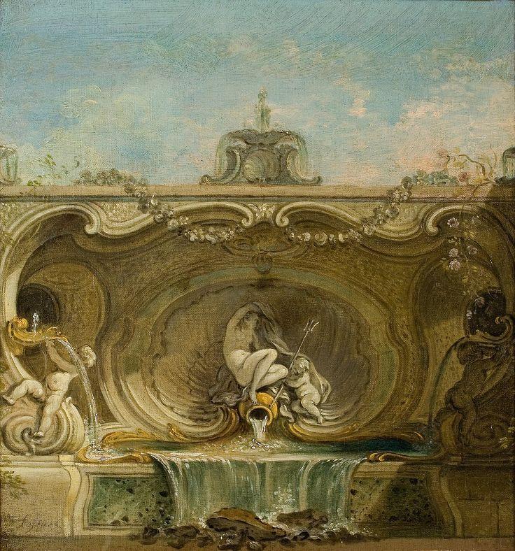 """""""Projet de fontaine : naïade et putti"""" - Jacques de Lajoüe (1686-1761) - Paris…"""