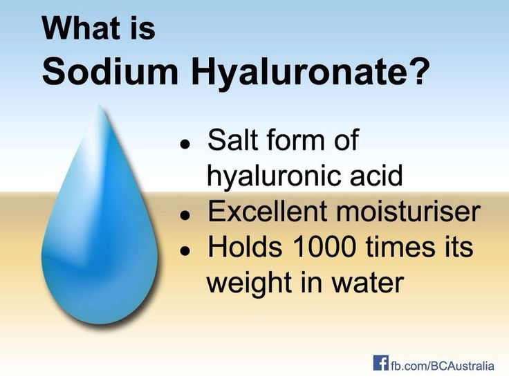 Hydrate your skin with products that contain hyaluronic acid!