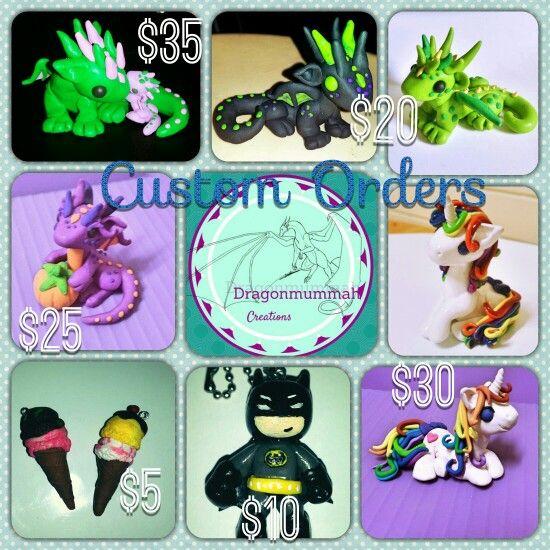 Custom orders www.facebook.com/dragonmummah