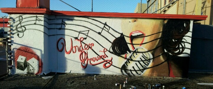 Mural for the Under Ground music venue