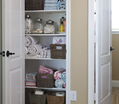 8 Ideas For Organizing Your Linen Closet Warning This Closet Leads To Wonderland Pinterest