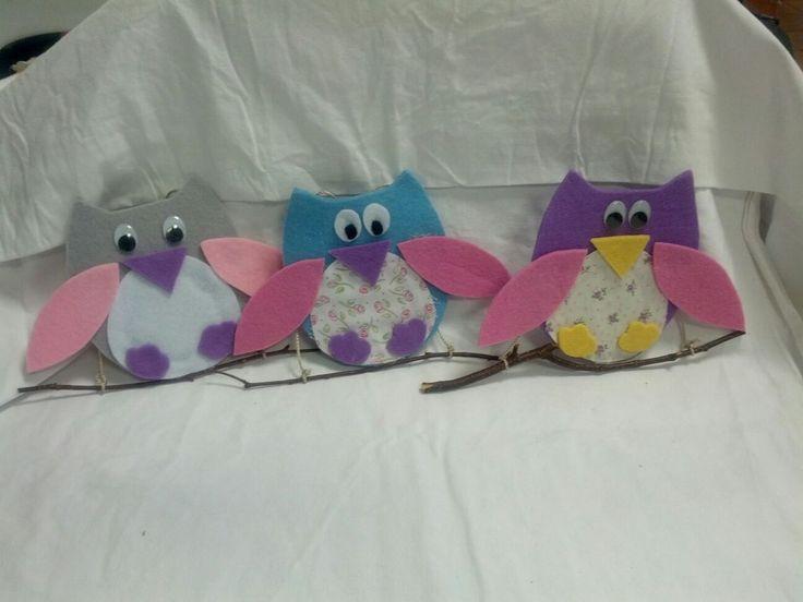 Owls in feltro
