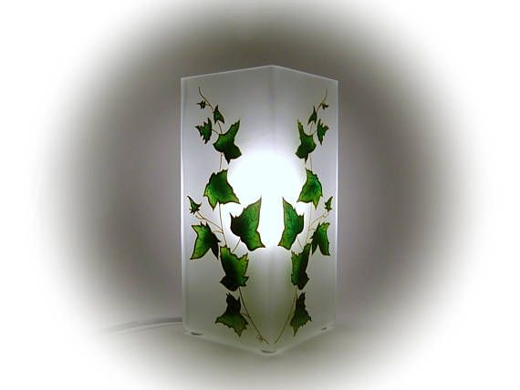 Ivy Art Lamp Shade Mood Lighting Green Leaf Table Lamp