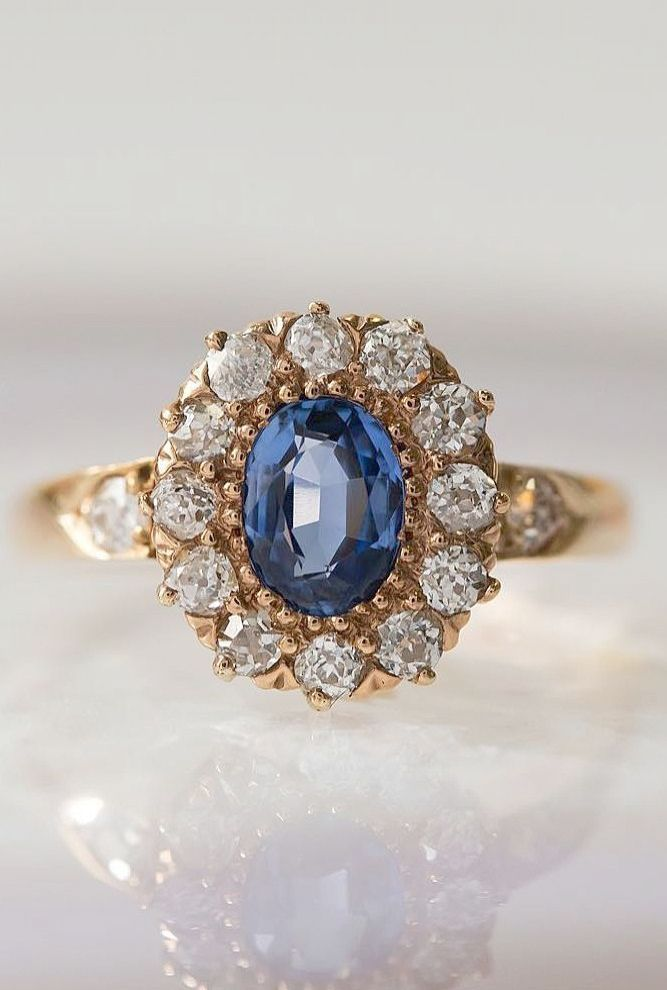 Sapphire Rings Birmingham Jewellery Quarter Vintage Sapphire Engagement Rings For Sale Floral Engagement Ring Engagement Rings Sapphire Deco Engagement Ring