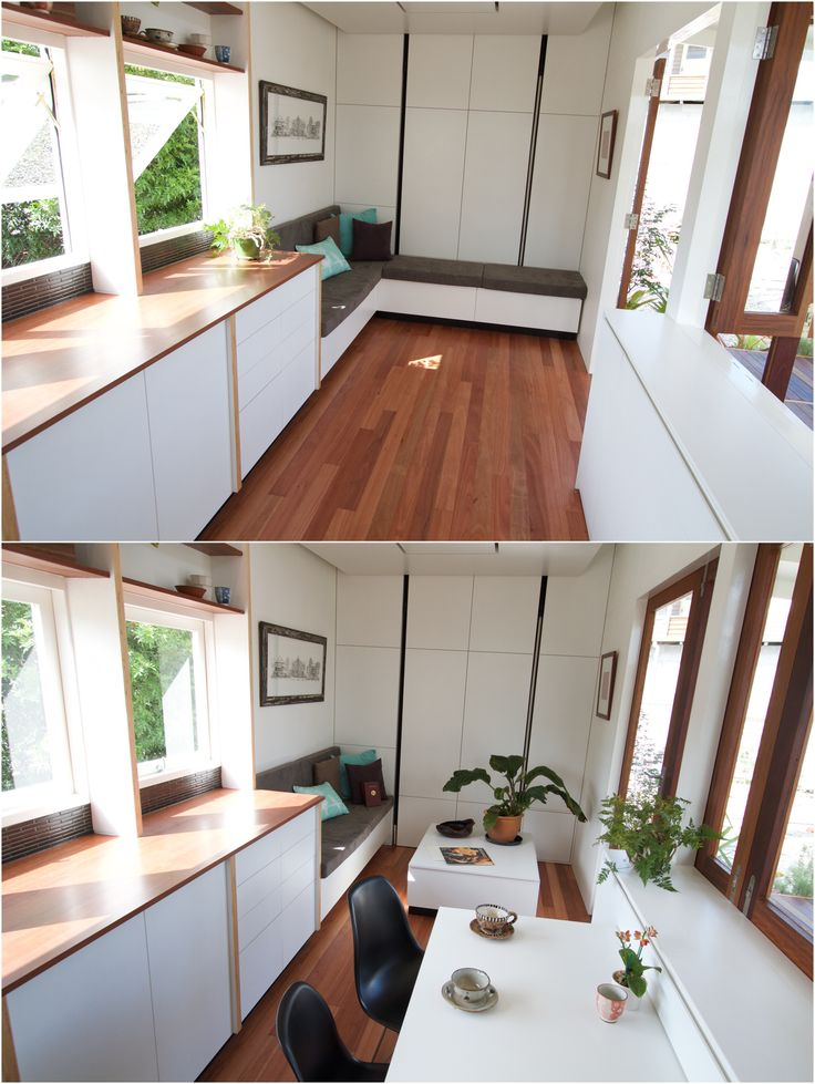 Tiny house on wheels designed and built for a subtropical climate by the tiny house company