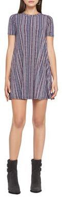 BCBGeneration Geo Stripe A-Line Dress