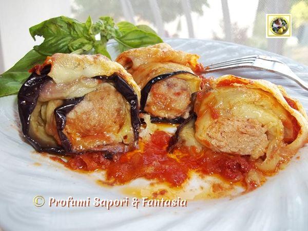 Involtini di melanzane con polpettine Blog Profumi Sapori & Fantasia
