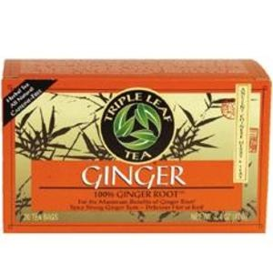 Ginger from Triple Leaf Tea...really helping my stomach these past few days.  Great for nausea.