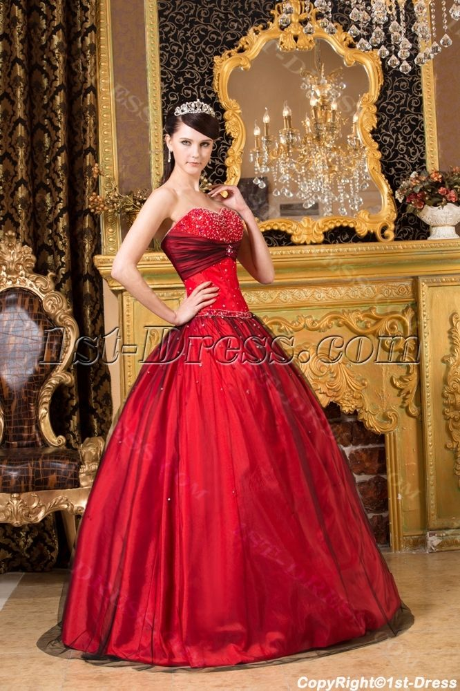 24 best Red Long Ball Gown Dress images on Pinterest