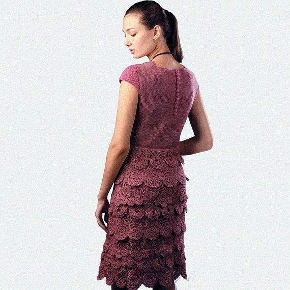 Crochet dress PATTERN crochet cocktail by OnlyFavoritePATTERNs