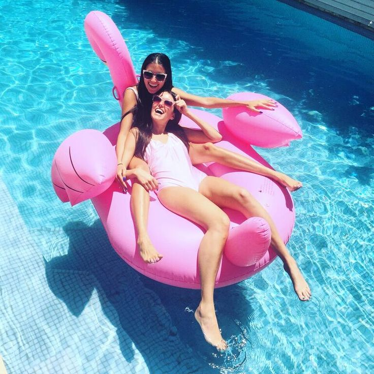 Just floating around on our @sportsgirl flamingo