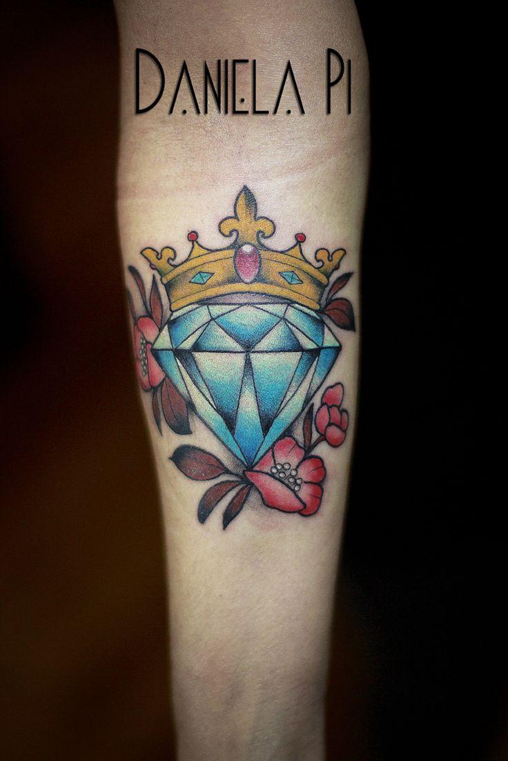 Diamond Tattoo done by Daniela Pi @ Evil Machines Tattoo -Roma