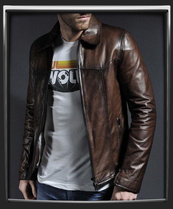 Men's Nappa Leather Jacket—EliteRobe on Etsy
