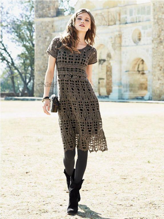 Платье крючком. Перуанская коллекция осень 2014. Sophia Crochet Dress. Peruvian connection. Collection 2014. #crochet_dress #crochet_summer_dress
