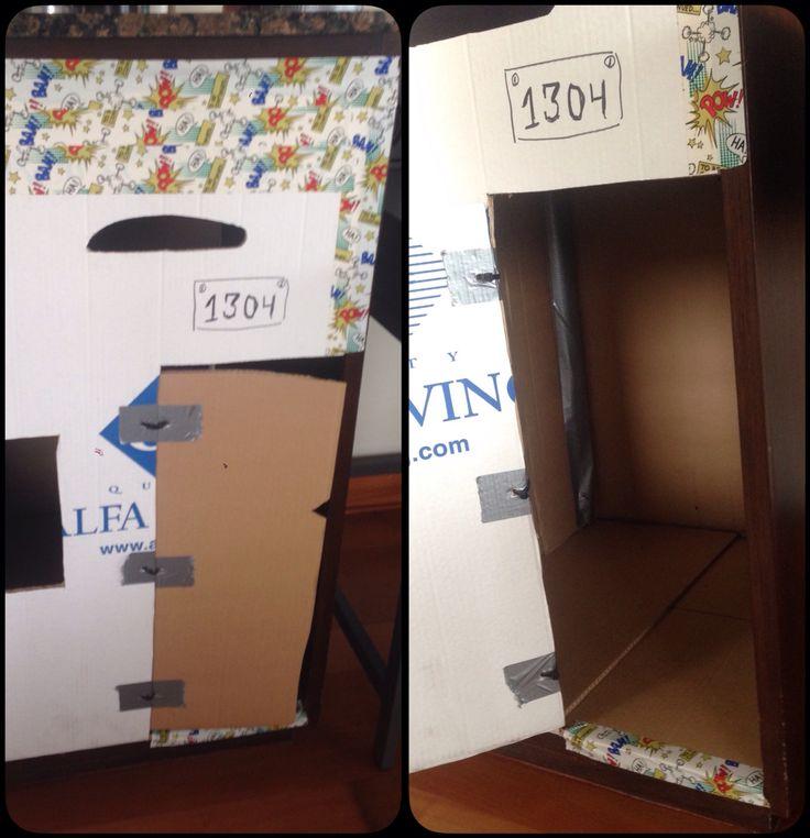 Cardboard Cave  #cardboard #ducktape #strips