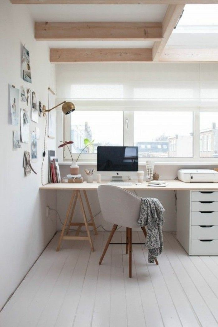 Home Office set up Scandinavian design