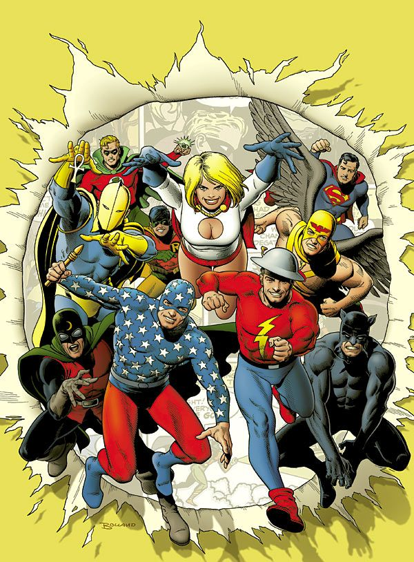 Brian Bolland's version of the 1970's incarnation of the greatest super-hero team of all time...The Justice Society of America!