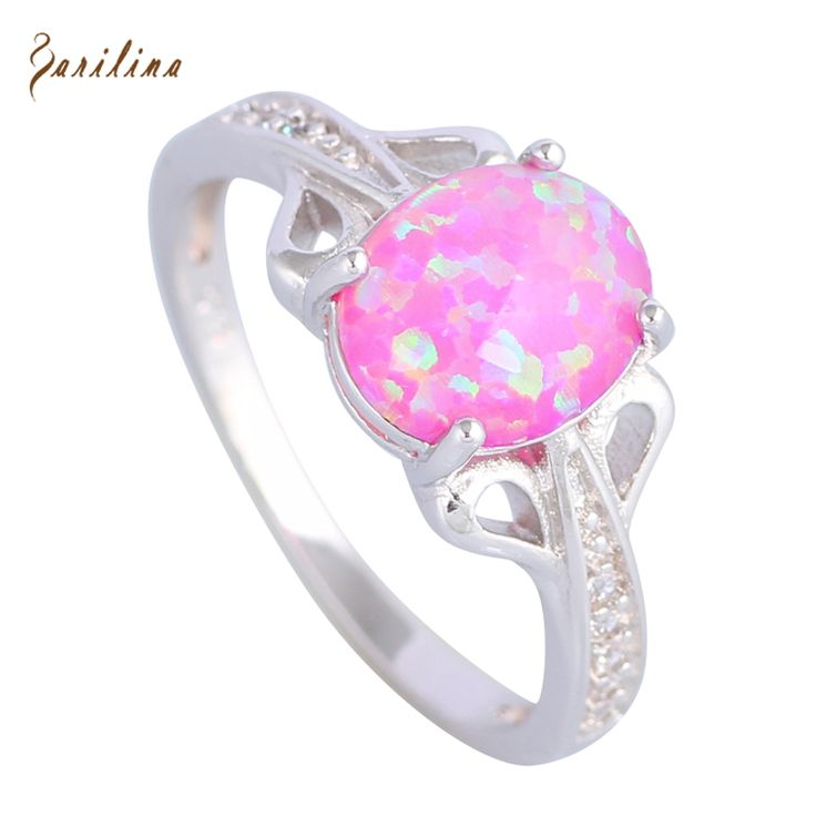 Party Jewelry Rings for women Pink Fire Opal 925 Sterling Silver Overlay ring size 5 6 7 8 9 10 R507