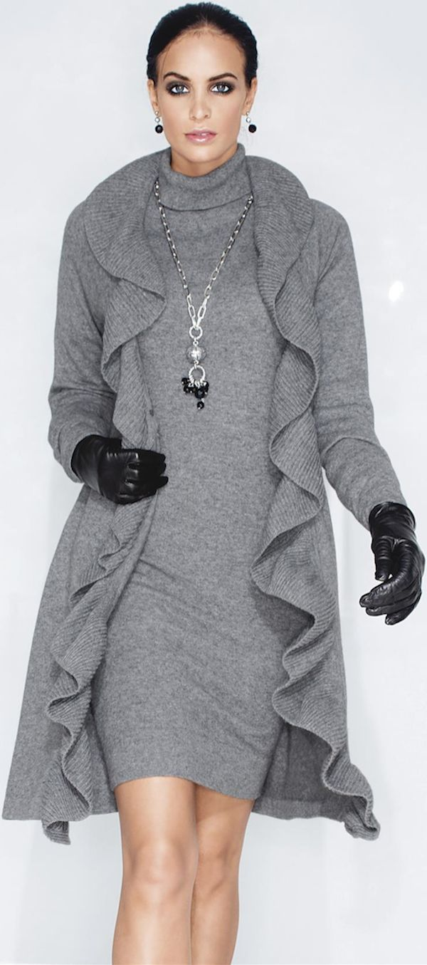 Love this grey outfit -- looks soft and warm but not heavy from LOOKandLOVEwithLOLO: Madeleine Fall 2014 New Arrivals: