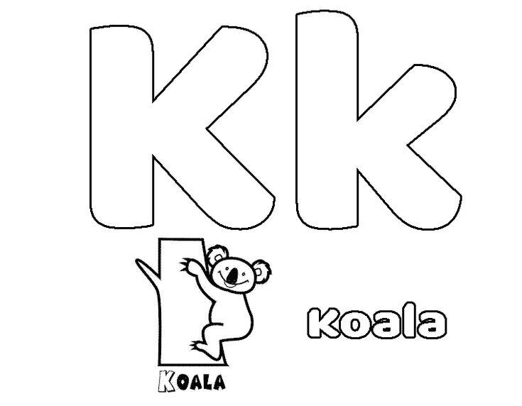 Dibujos para Colorear Letras Online   Letra k, Letras ...