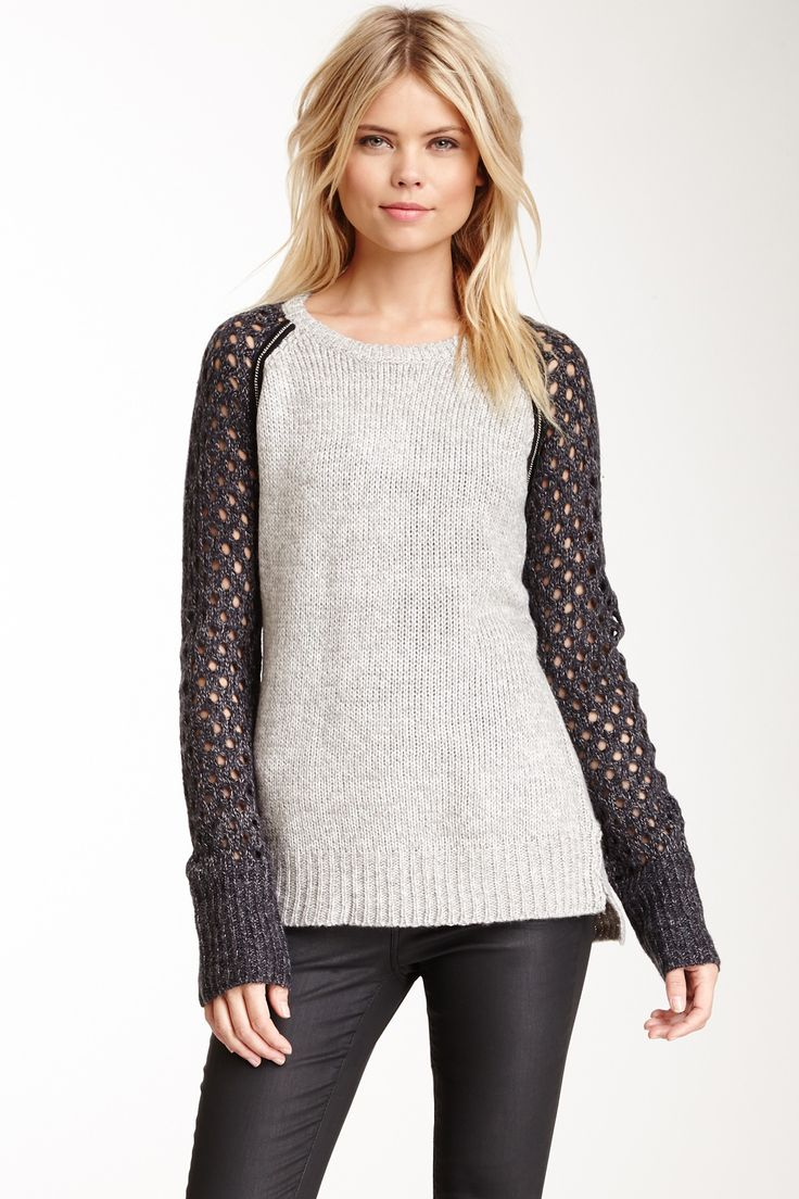 Metal Trim Two-Tone Sweater on HauteLook
