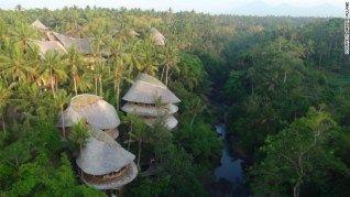 Bamboo village in Bali