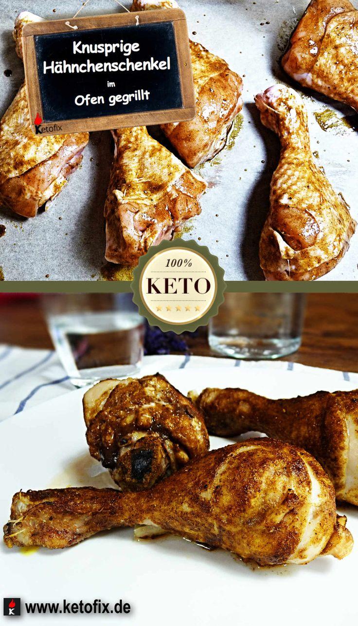 Magst du Knusprige Hähnchenschenkel im Ofen gegrillt.Wir Haben Eine Spezielle Marinade. Das Geheim-Rezept Amt für Eine würzige, krosse Haut. Hol dir das Rezept!