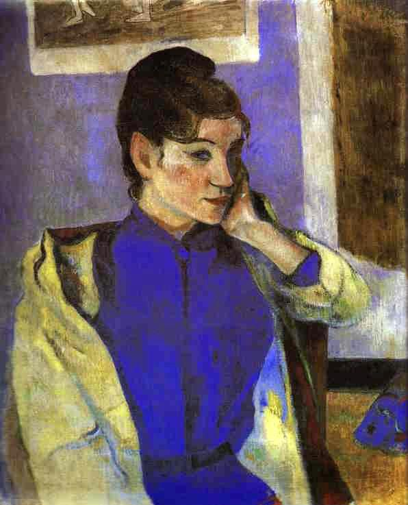 Madeleine Bernard, by Paul Gauguin, 1888, painted during Gauguin's second visit to Pont Aven