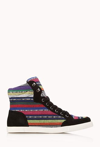 Electric Striped Sneakers | FOREVER21 - 2000089855