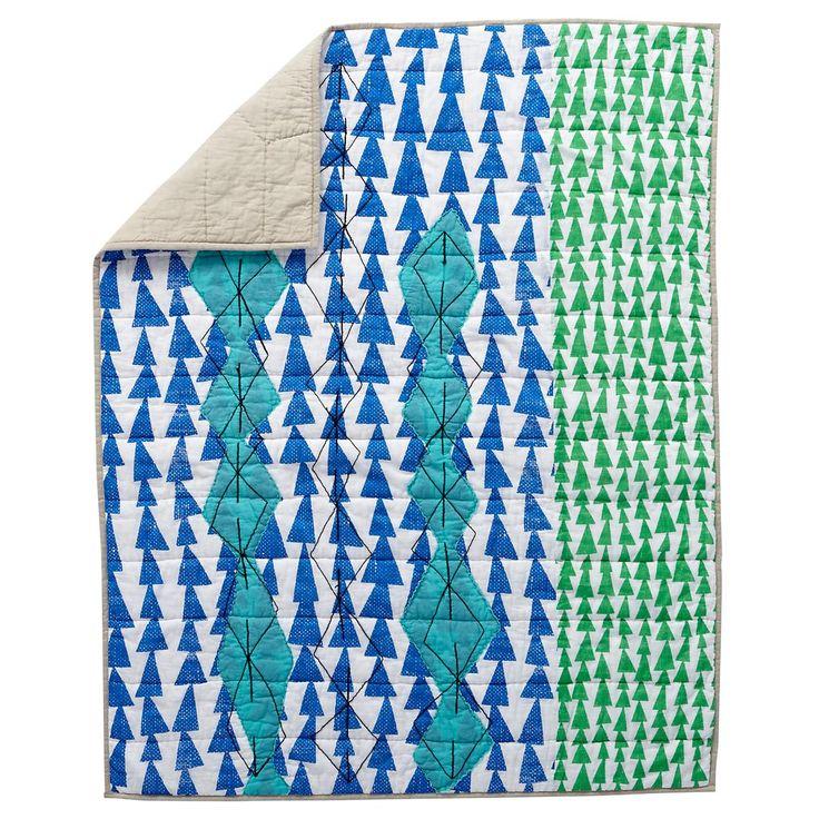 Mod Botanical Crib Bedding (Blue) | The Land of Nod