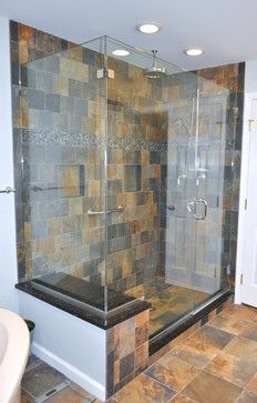 slate bathroom ideas multi color slate tile design ideas pictures remodel and