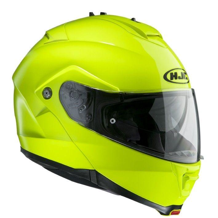 Casco moto modulare fluo HJC IS-MAX II Fluorescencent / GREEN