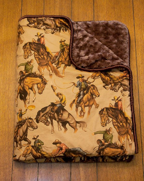 Cowboy Vintage Western Baby Blankets by Cowbaby Gear. $150.00, via Etsy.