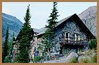 granite park chalet in glacier park. hike/horseback ride in only!