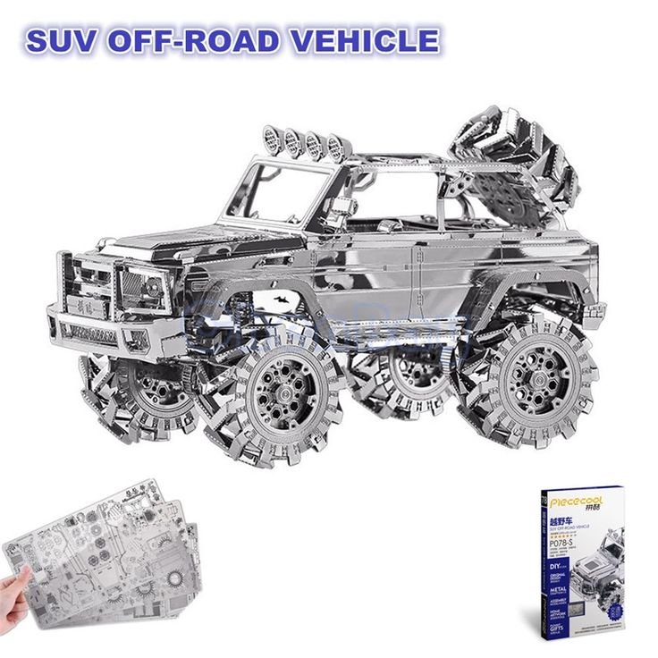 13.79$  Watch now - http://ali7f9.shopchina.info/1/go.php?t=32782263091 - Piececool 3D Metal Puzzle of SUV OFF-ROAD VEHICLE 3D Laser Cut Model 3D Jigsaws from 3d Laser Cut Metal Sheets for Kids DIY Toys 13.79$ #buyonline