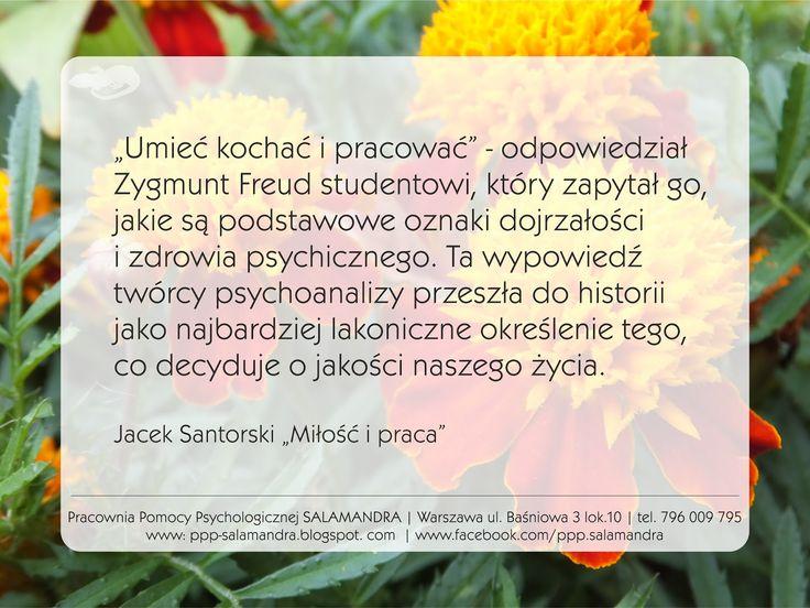 Pracownia Pomocy Psychologicznej SALAMANDRA - Dobry psycholog Warszawa - Elżbieta Grabarczyk: Podstawowe oznaki zdrowia psychicznego - umieć kochać i pracować