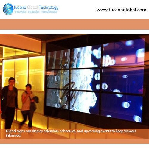 #Digitalsigns can #display #calendars, #schedules, and #upcoming #events to keep #viewers informed. #TucanaGlobalTechnology #Manufacturer #HongKong