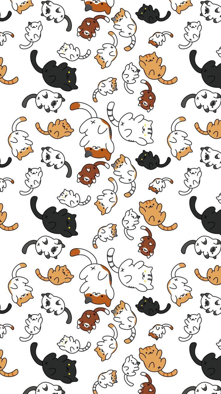First Neko Atsume Wallpaper Tumblr Theme Background Second And Third Neko Ats Wallpaper Katzen Tapeten Hubsche Tapeten Cartoon Wallpaper