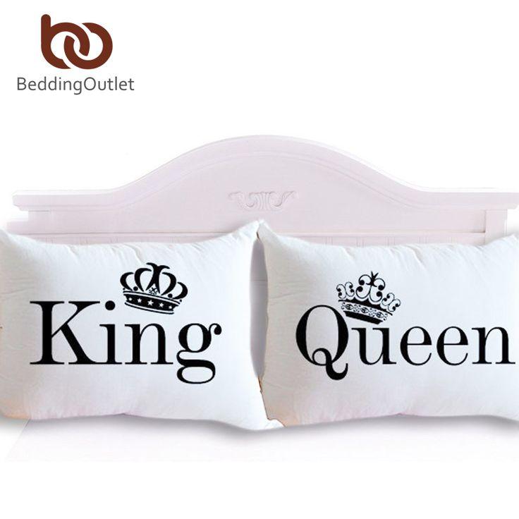 Königin König Kissenbezug Dekorative Körper Kopfkissenbezug Klar Design Qualifizierte Bettwäsche 20 zoll x 30 zoll Bettwäsche valentinstag Geschenk