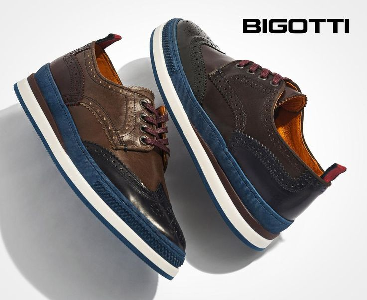 The #fusion of a #sporty #sole with a #classic #brogue #upper #creates a #trendy #model of #shoes, #perfect for a #modern and #original #style.  www.bigotti.ro #mensfashion #menswear #mensclothing #mensstyle #moda #barbati #pantofi #fashiontag #follow